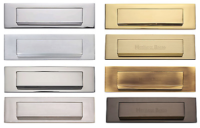 "Gravity Flap Letter Plate / Letter Box - Various Finishes - 280 x 80mm (11 x 3"")"
