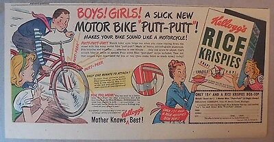 """Kellogg's Cereal Ad: """"Putt-Putt"""" Premium from 1930's-1940's 7.5  x 15 inches"""