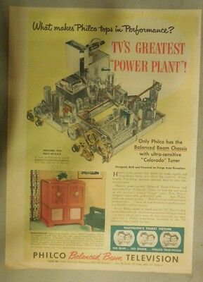 Philco Ad: Only Philco TV's Greatest Power Plant True Focus Pictures! from 1952