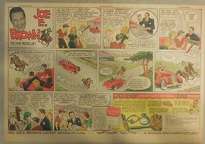 Joe E. Brown Club Post Grape-Nuts Flakes Cereal Ad from 1930's 11 x 15 Inches