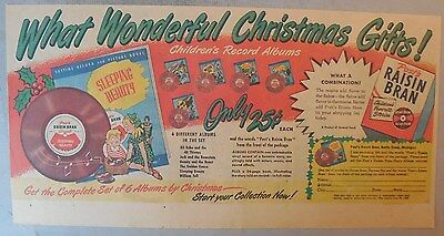 Post Cereal Ad: Albums For Youngsters! Premium 1930's-1940's 7.5 x 15 inches