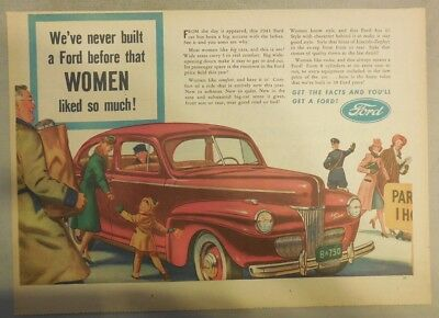 Ford Car Ad: We've Never Built A Ford That Women Liked So Much from 1941