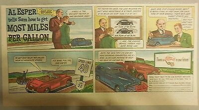 "Ford  Ad: ""Al Esper tells Sam how to get Most Miles Per Gallon""  from 1940's"