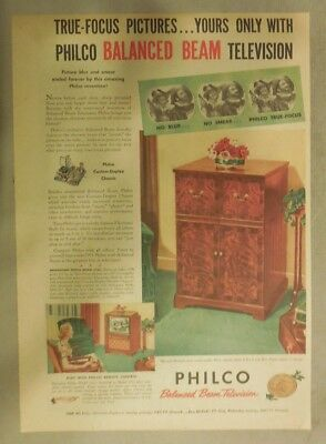 "Philco Ad: Only Philco Has ""Balanced Beam"" Best Picture Television from 1951"