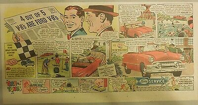 """Ford  Ad: """"4 out of 5 V-8's are Ford V-8's""""  from 1940's"""