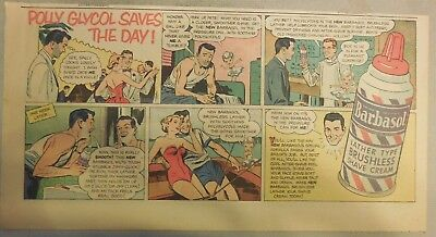 Barbasol Shaving Cream Ad: Polly Glycol Saves The Day! from 1940's