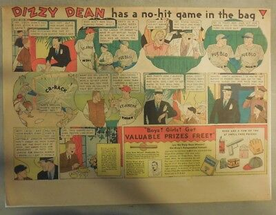 Dizzy Dean Baseball Hero Post Grape-Nuts Cereal Ad from 1930's 11 x 15 Inches