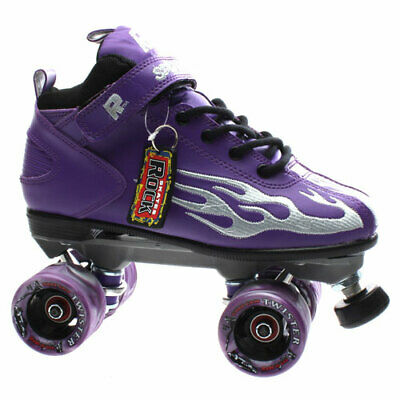 NEW Suregrip Mens/Womens Rock GT-50 Black Quad Roller Skates in Black/Purple