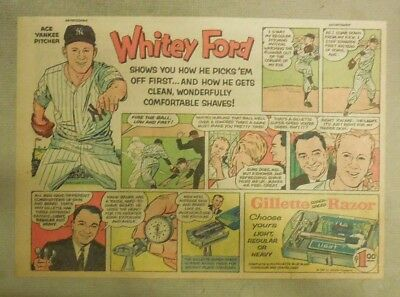 Gillette Razor Ad: NY Yankees Whitey Ford from 1950's Size: 7 x 10 inches