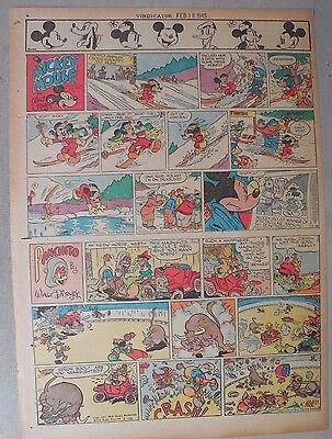 Mickey Mouse Sunday Page by Walt Disney from 2/18/1945 Tabloid Page Size