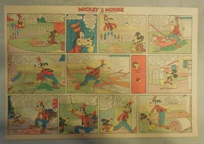 Mickey Mouse Sunday Page by Walt Disney from 4/5/1942 Half Page Size