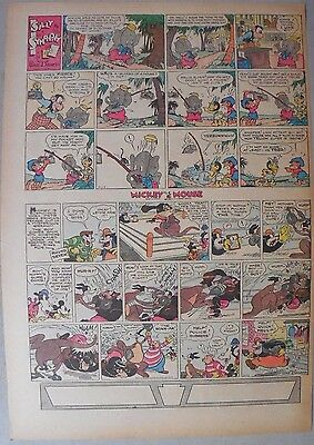 Mickey Mouse Sunday Page by Walt Disney from 11/17/1935 Tabloid Page Size
