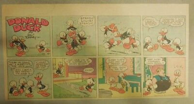 Donald Duck Sunday Page by Walt Disney from 8/15/1943 Third Page Size