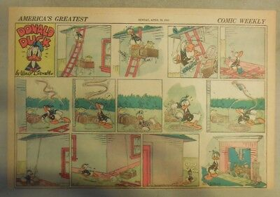 Donald Duck Sunday Page by Walt Disney from 4/19/1942 Half Page Size