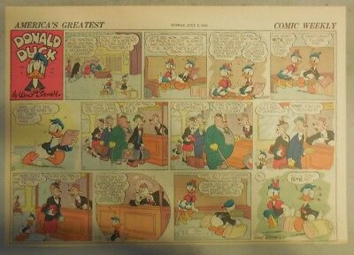 Donald Duck Sunday Page by Walt Disney from 7/5/1942 Half Page Size