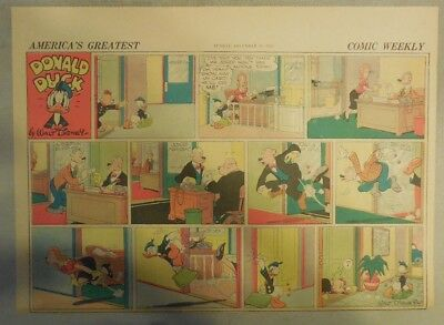 Donald Duck Sunday Page by Walt Disney from 12/13/1942 Half Page Size
