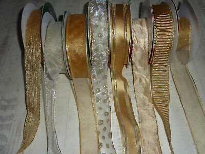 Wire Edge Christmas Ribbon Silver Crinkle Organza mesh 38mm New