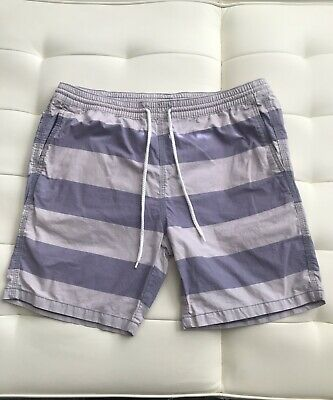 3f8ee964 Mossimo Supply Co Men's Shorts Elastic Waist Drawstring striped Cotton Sz  Large