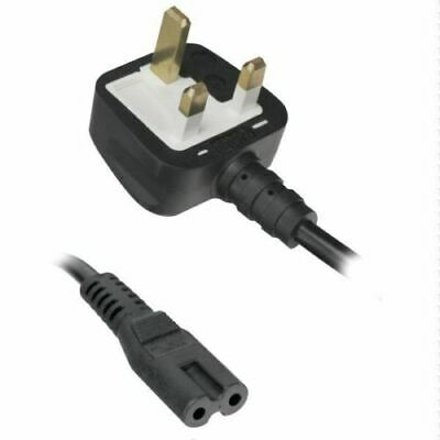1.5M Power Cord UK 3 Pin Plug to C7 Figure 8 Power Lead Fig 8 Power Cable Mains