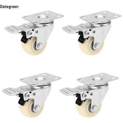 """2"""" Office Chair Swivel Caster Wheels Top Plate with Swivel Lock Kit 4 DTGN"""