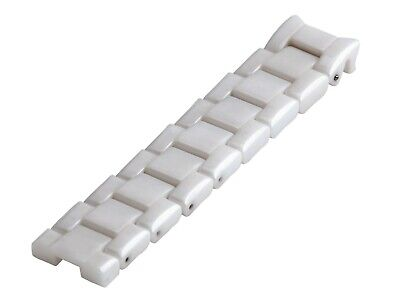 For EMPORIO ARMANI AR1415 Ceramic White Half Strap/Band/Bracelet Watch 22mm