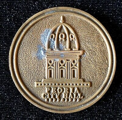 Souvenir Medallion Centennial of Peoria, Illinois City Hall, 1899-1999, 13 oz.