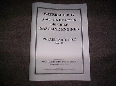 New Waterloo Gasoline Engine Co. Built Hit & Miss Gas Engine Best Parts List #16