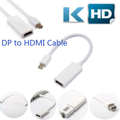 Mini Display Port Thunderbolt DP To HDMI Adapter Cable Converter For Macbook Pro
