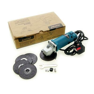 "Katsu Electric Mini Angle Grinder 75mm 3"" 280W Extra Cutting Blades 12000RPM"