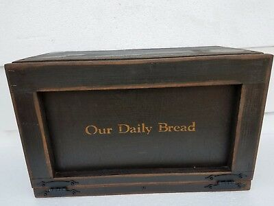 "Hand Crafted Primitive Bread Box 19"" x 12x 9.5 New Breadbox Hand Crafted"