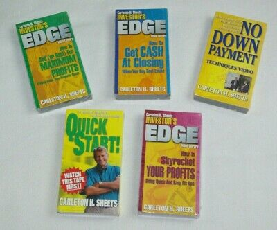 Real Estate Investment Carleton Sheets Course Vhs Tapes Lot Sealed