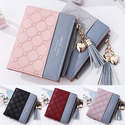 Cute Wallet Women Coin Bag Leather Ladies Simple Bifold Small Handbag Purse New
