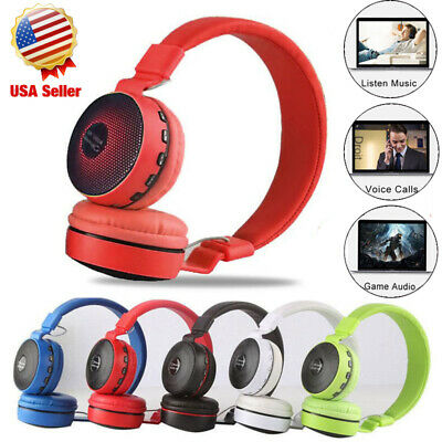 Wireless Bluetooth Over-Ear LED Headphones Noise Cancelling Earphones Fashion