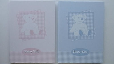 Baby Record and Memory Book Girl or Boy (Choice of 2)