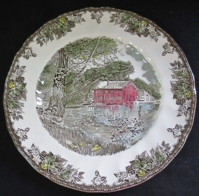 "Vintage JOHNSON Bros. England FRIENDLY VILLAGE-10 3/8"" DINNER PLATE-OLD MILL"