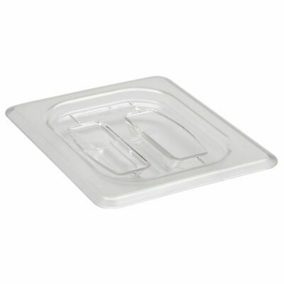 Cambro 80CWCH135 Camwear Clear 1/8 Size Food Pan Cover with Handle