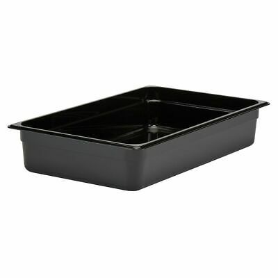 "Cambro 14CW110 Black Camwear Full Size x 4"" D Food Pan"