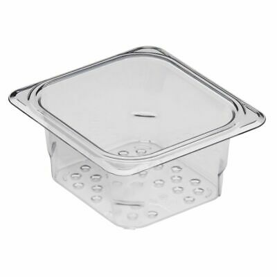 """Cambro 63CLRCW135 Camwear Clear Colander for 3"""" D Sixth Size Food Pan"""