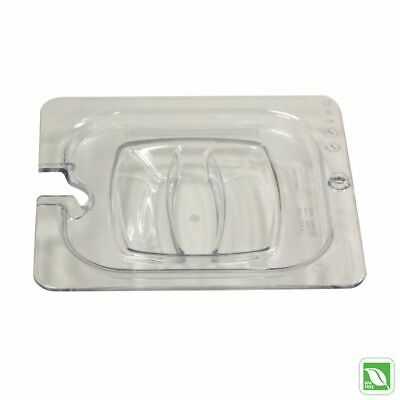 Rubbermaid FG108P86CLR Sixth Size Cold Food Pan Cover with Notch