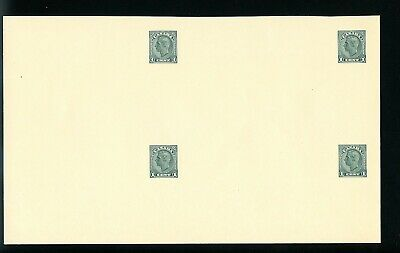 Lot 76198 Canada Ux66 Unused Uncut Block Of 4  Postal Stationery King George V1