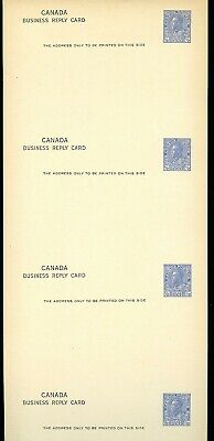 LOT 76251 CANADA UX26c UNUSED FULL STRIP OF 4 POSTAL STATIONERY KING GEORGE V