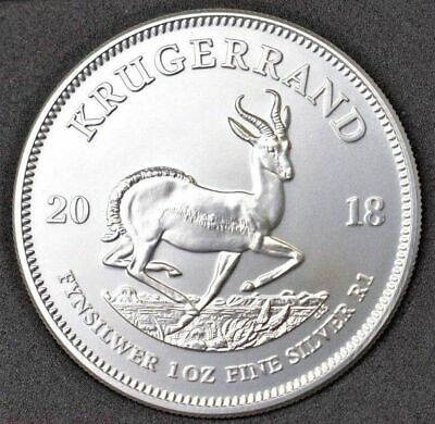 2018 South Africa Krugerrand 1 Oz Fine Silver Coin BU