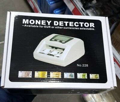 Rileva Conta Euro Soldi False Mini Rilevatore Money Detector Banconote