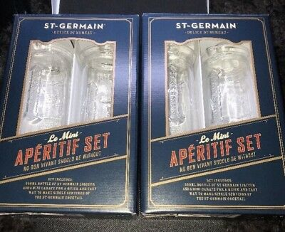 St Germain Le MINI Cocktail Carafe Mixer Glass Pitcher Set Of 4, New, Great Deal