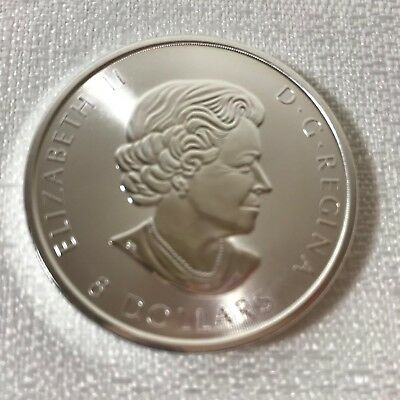 Silver Snow Falcon 1.5 Oz.,Uncirculated, 2016,Royal Canadian- Paid $44.71