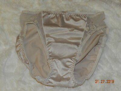 ba0cc1d3daff VINTAGE OLGA HI-CUT Panties w/Mesh and Lace Front Panel Size M Style ...