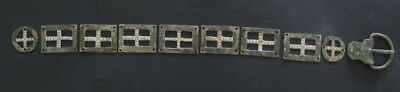 ANCIENT ROMAN SILVERED BRONZE  LEGIONARIES BELT 2-3 ct. AD from SIRMIUM