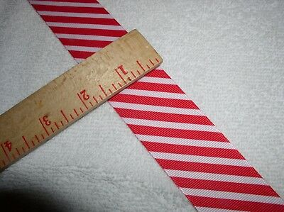 "4.0 yds; 1.5""Wide;Grosgrain Ribbon; Red & White Diagonal Stripes , ""Candy Cane"""