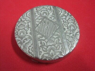 Vintage Art Deco French powder box compact BOURJOIS Paris