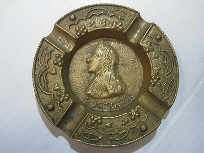 Antique/Old Very Beautiful Ashtray In Bronze Portugal Rare